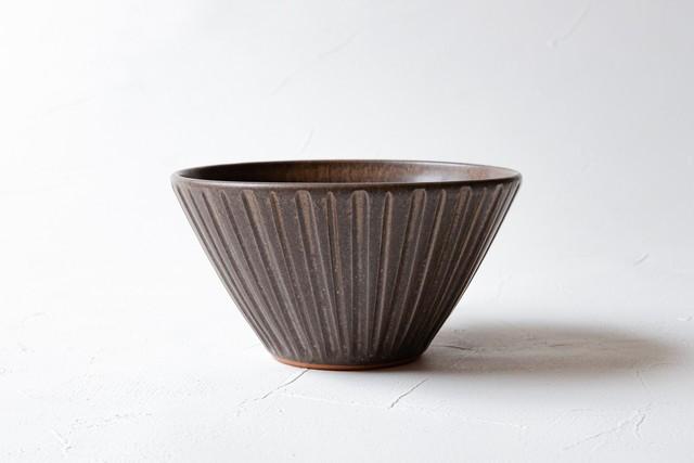 【増田 哲士】しのぎ飯碗 小丼(茶)