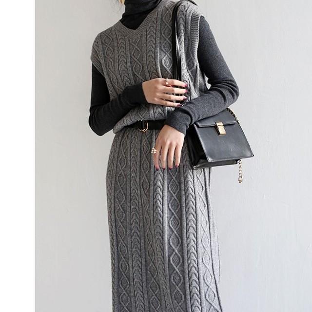 Knit onepiece KRE616