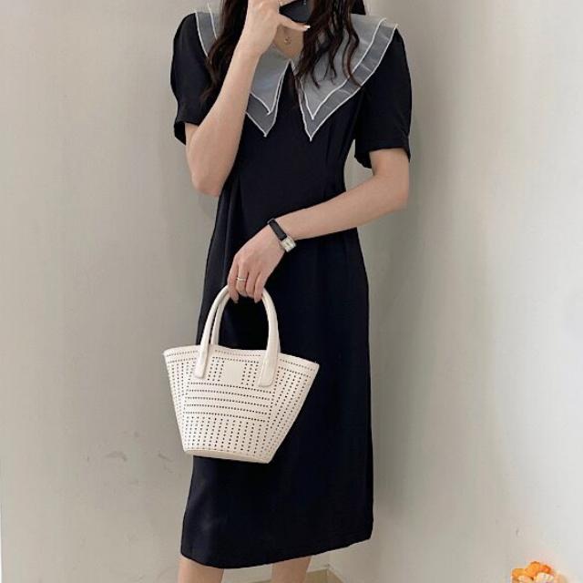シフォン カラー ドレス【R0813】