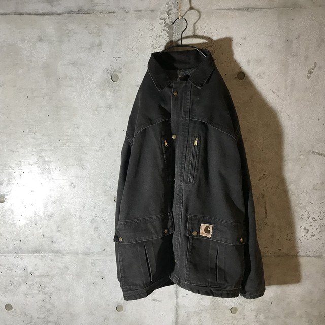 [carhartt]dark charcoal half jacket