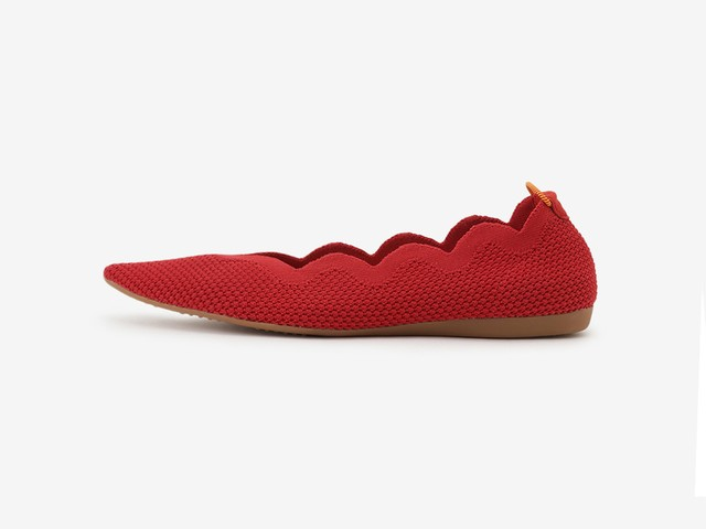 scallop pattern / RED