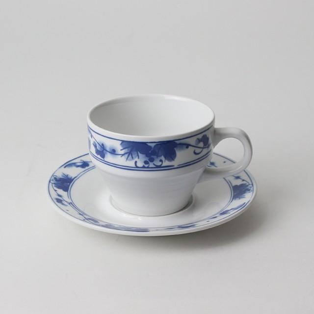 【SL0035】磁器 コーヒーカップ ネイビーブルー