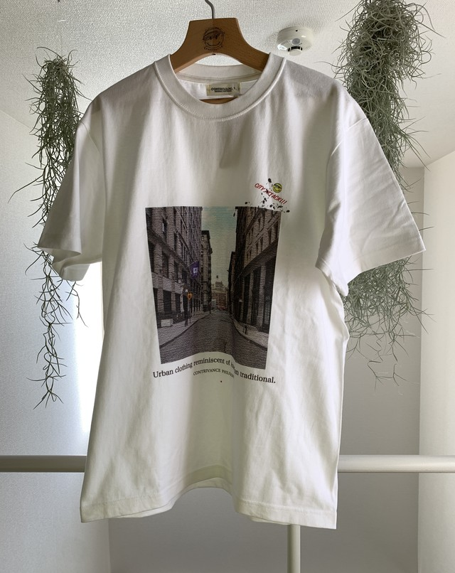 CITY ATTACK TOWN tee   (Tシャツ,フォトプリント,新作,送料無料)