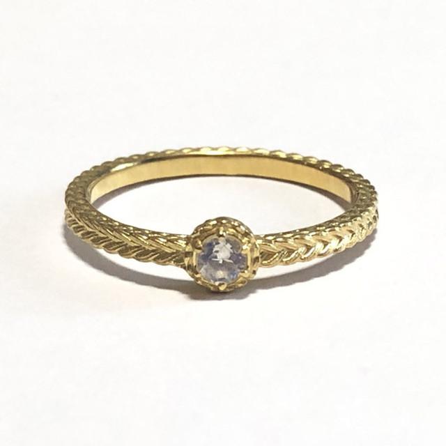 【受注生産】誕生石リング6月 ムーンストーン birthstone ring 6 moonstone