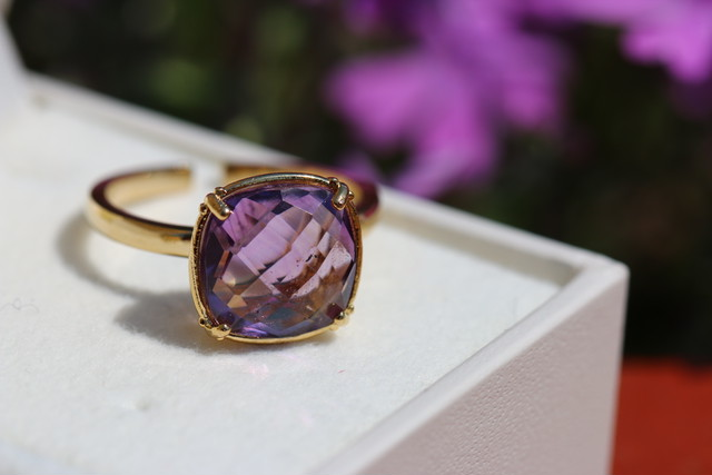 【宝石質/9〜13号】Amethyst quartz ring