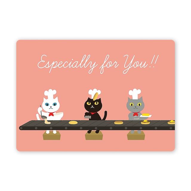 仲良しネコちゃん 多目的カード パンケーキ