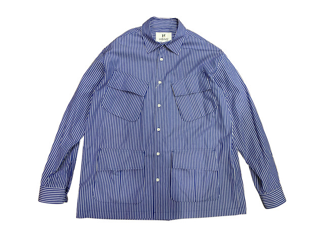 BIG FURTIGUE SHIRTS (NAVY-STRIPE)