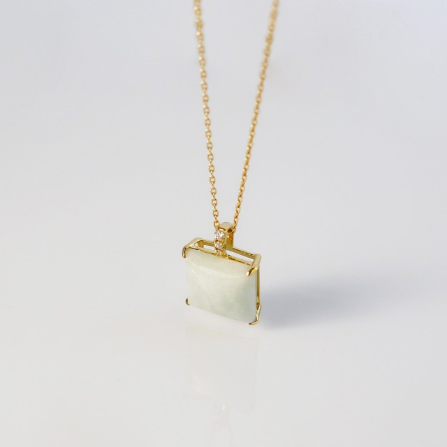 NAGI 'BYAKUROKU' / Necklace (White Green)