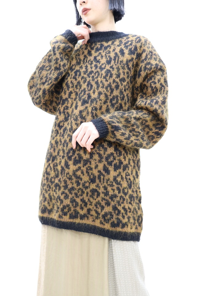 leopard high neck knit / TP11050008