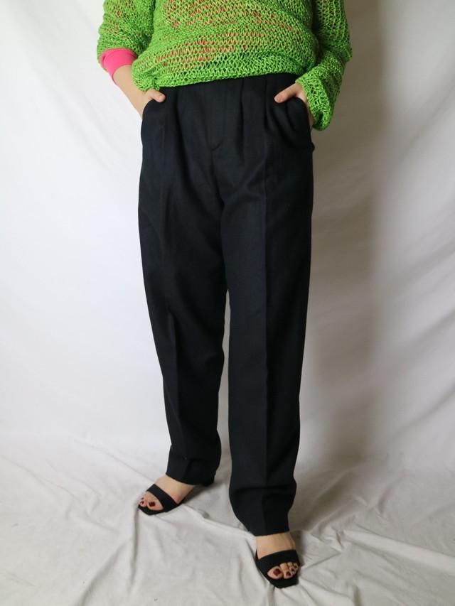 wool high waist pants 【0806】