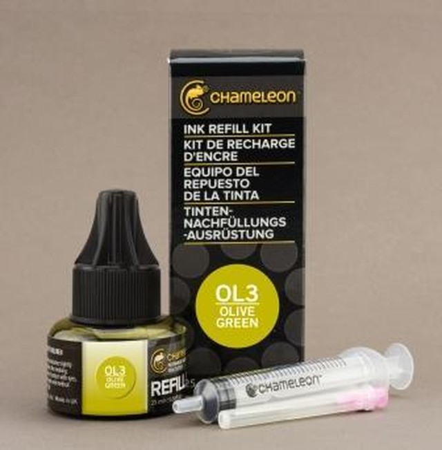 Chameleon Pen Ink Refill 25ml Olive Green OL3 (カメレオンペン 詰替え用インク OL3)