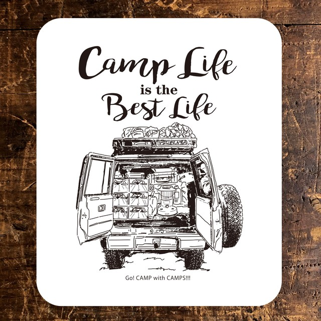 CAMPS STICKER 【Camp Life is the Best Life】ランドクルーザー70