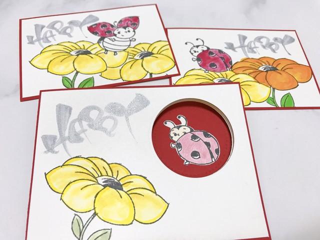 【Happy Ladybug】幸せのサイン・てんとう虫カード