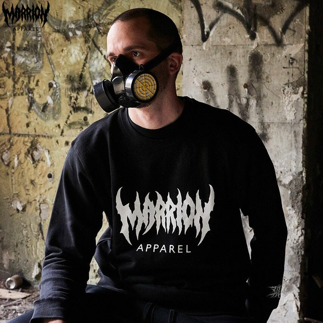 MARRION APPAREL LOGO SWEAT (Black)