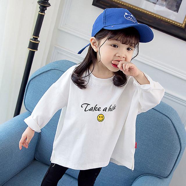 【トップス】アルファベットコットン女の子韓国系シンプルゆったり長袖Tシャツ26860653