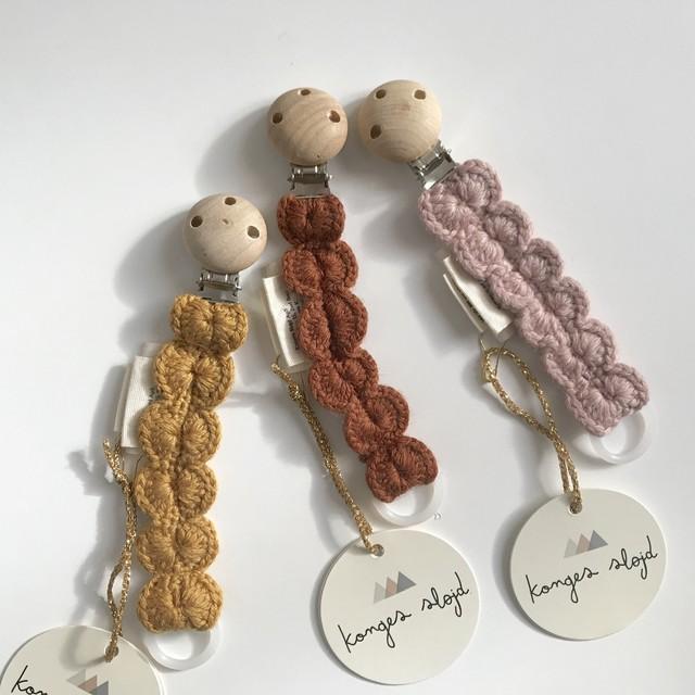 kongessloejd/pacifier strap wool