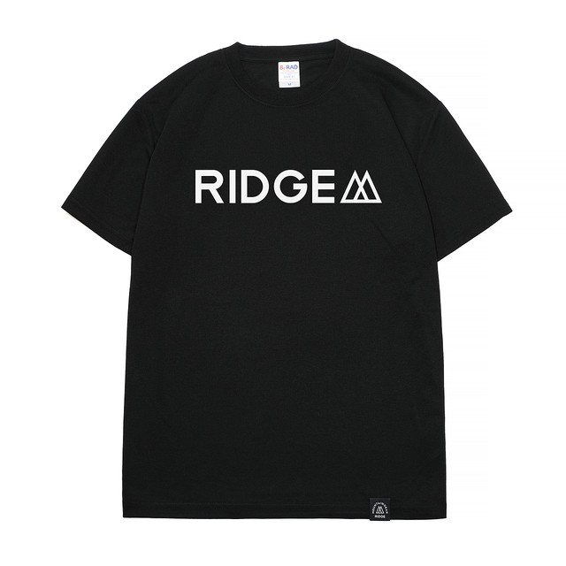 "RIDGE MOUNTAIN GEAR Logo Tee ""RIDGE""(Black)"