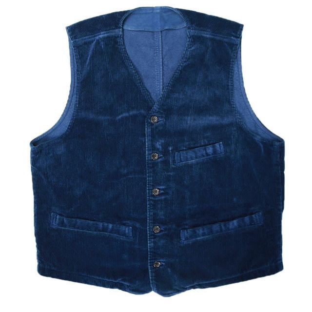 Porter Classic Corduroy Classic vest 2019 - BLUE - ポータークラシック コーデュロイ ベスト [PC-018-1167]