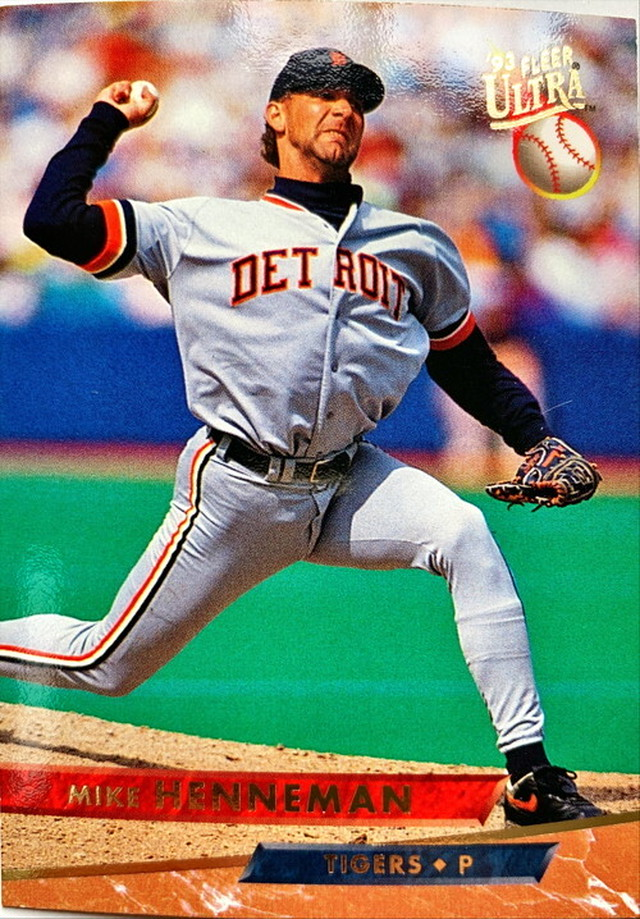 MLBカード 93FLEER Mike Hennemanr #199 TIGERS