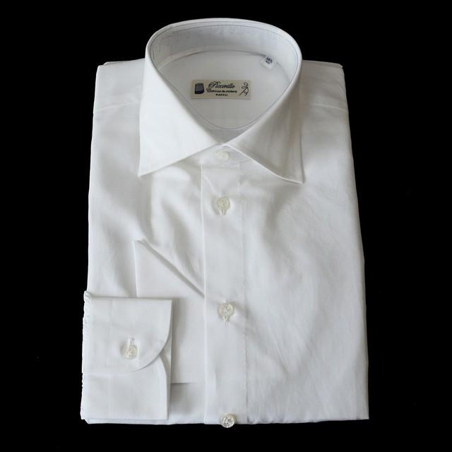 Camiceria Piccirillo コットンリネン L/S ドレスシャツ 各サイズ - White