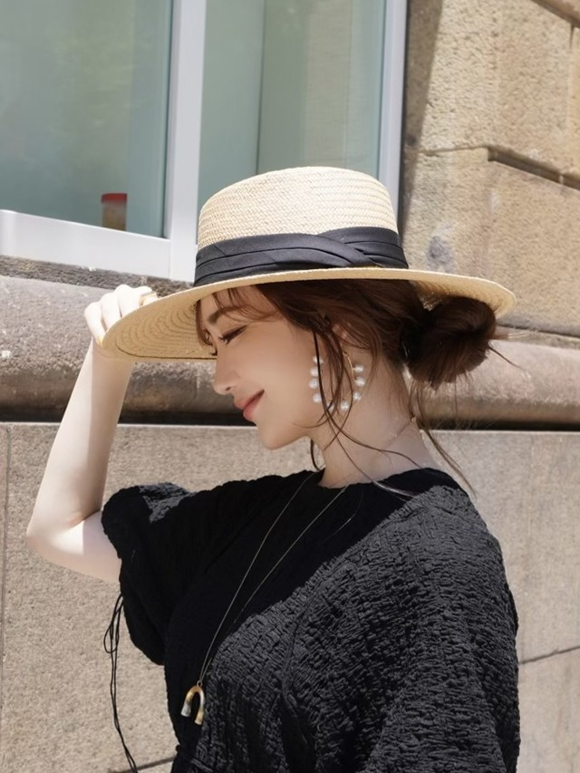 【予約】straw hat / beige  (7月下旬発送予定)