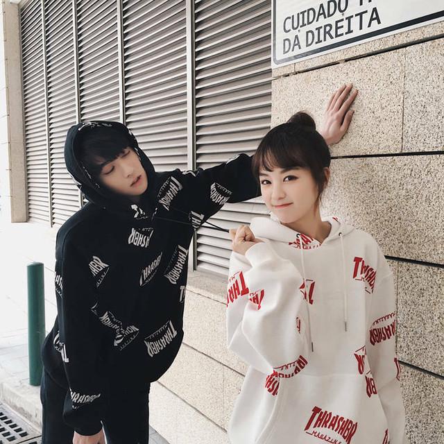 カップル ペアルック リンクコーデ パーカー カジュアル お揃い 可愛い  春 秋 0406