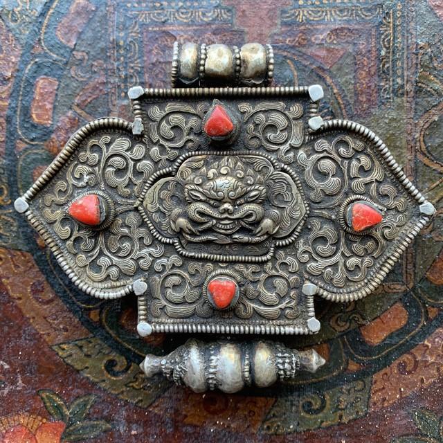 チベット 蓮華文様 木椀 ヤンズェ