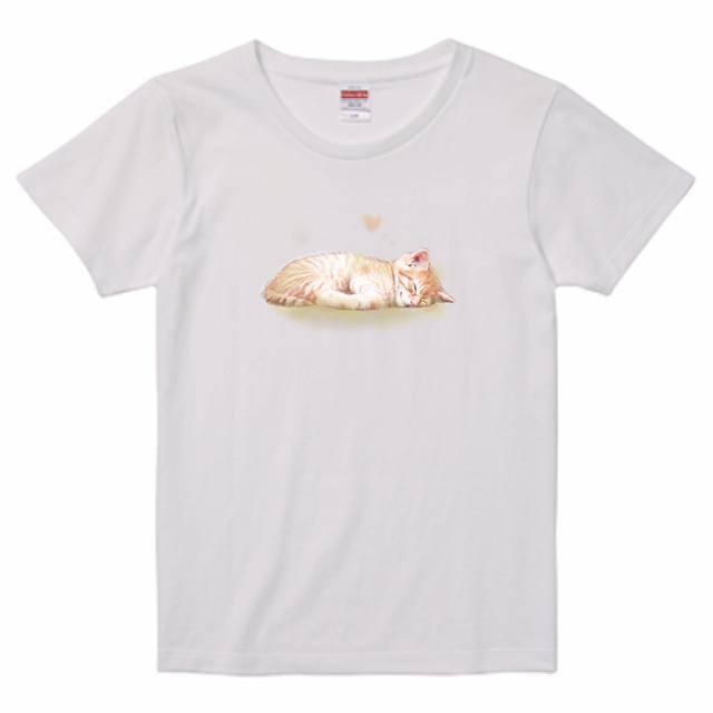 『猫Tシャツ特集#5』【レディース】United Athle5.6ozTシャツ ホワイト