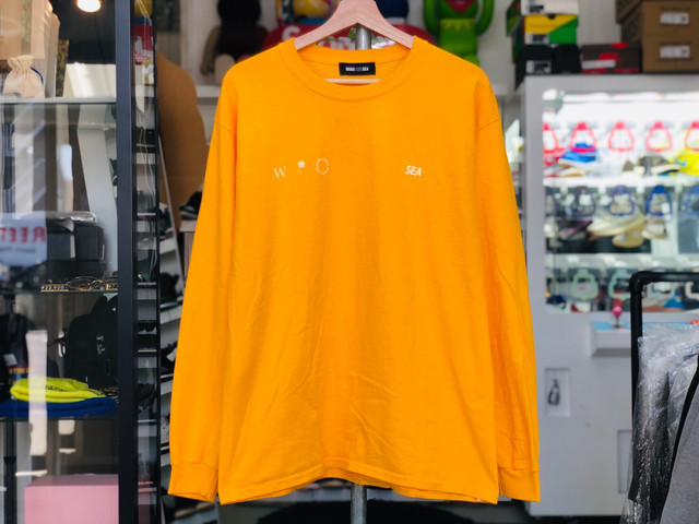WIND AND SEA 20SS small-four L/S T-SHIRT LARGE ORANGE 30JH8348