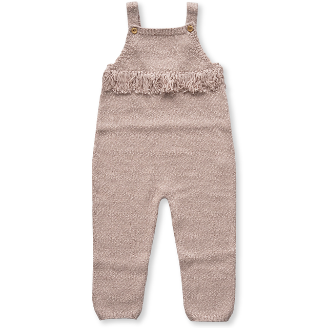 Grown / Slub Yarn Frill Overalls - Rose -