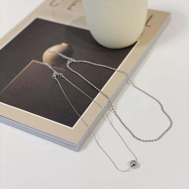 Ball motif  necklace/silver