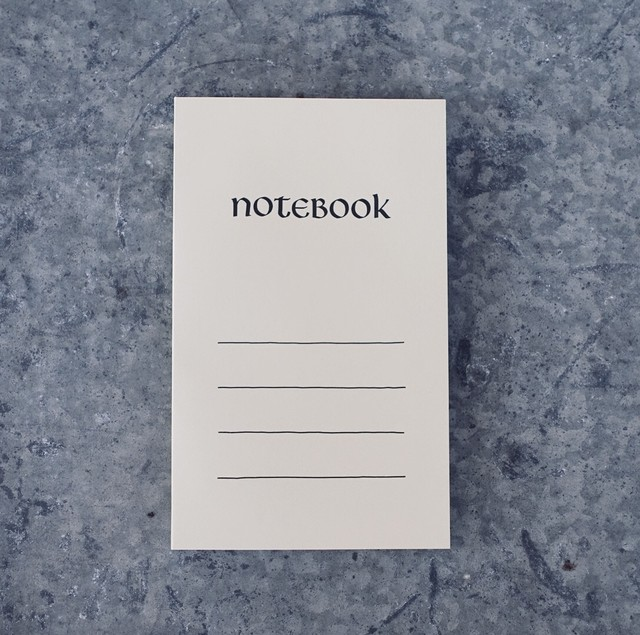 Paperback Notebook / ひわ