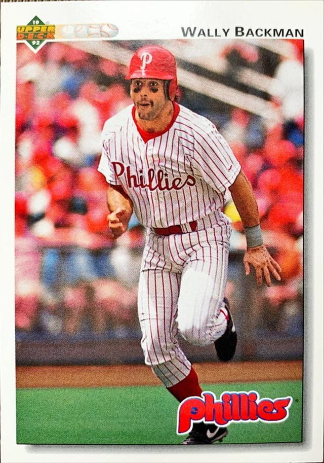 MLBカード 92UPPERDECK Wally Backman #350 PHILLIES