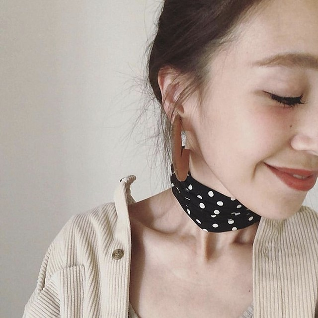 【can cam 掲載】dot scarf