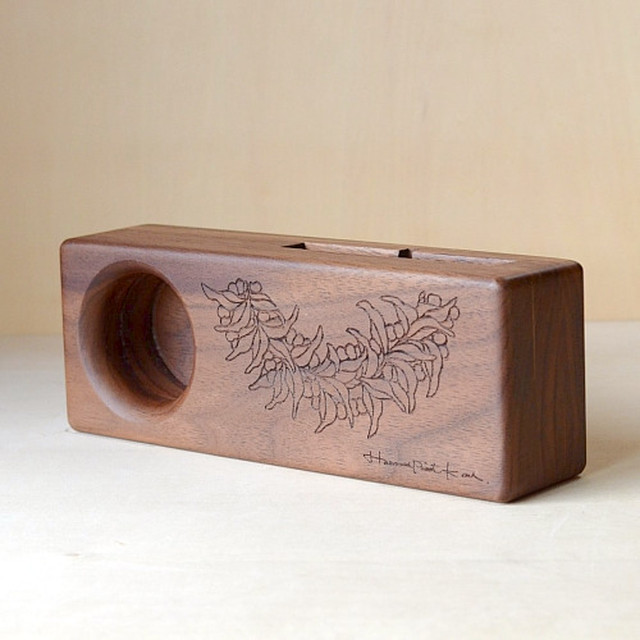 Wood eco speaker [Mile Lei / wood:チーク]  【WES-MIL-L-2】