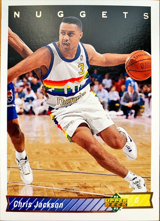NBAカード 92-93UPPERDECK Chris Jackson #117 NUGGETS