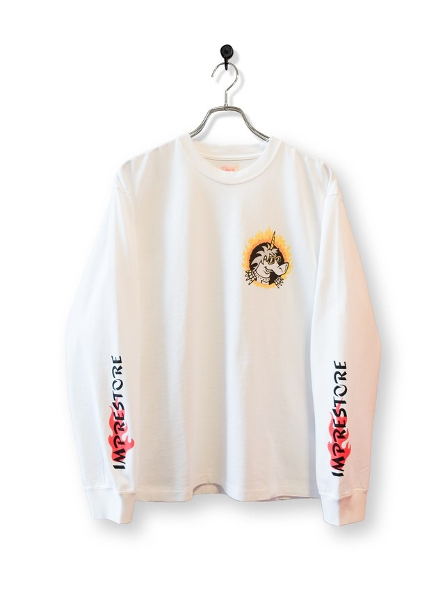 Original Long Sleeve-T / air brush / white
