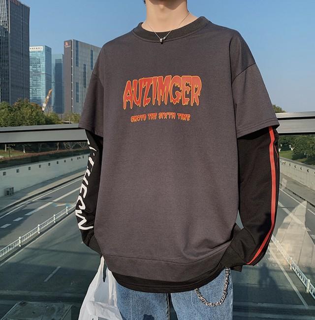 【HOT】AUZIMデザインロングTシャツ 2カラー
