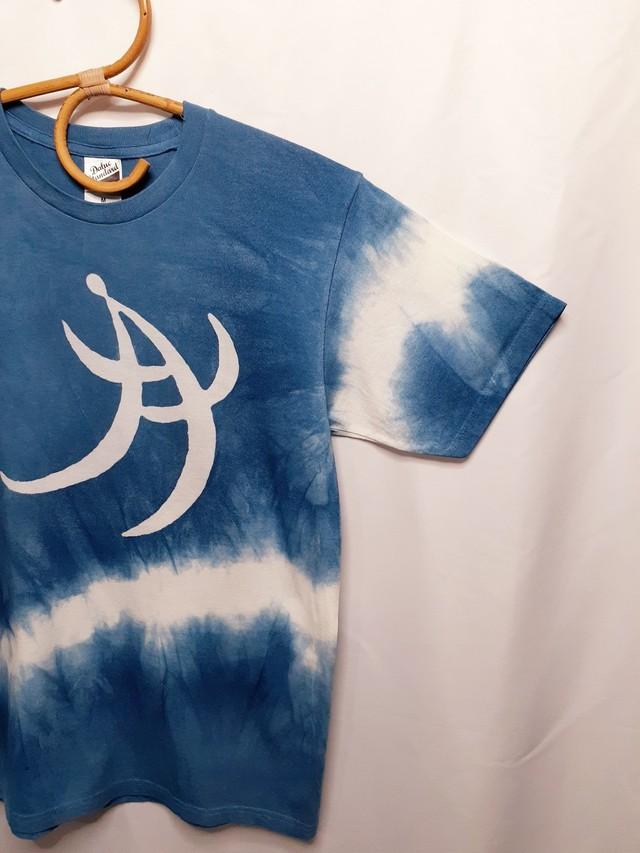 手書き&藍染Tシャツ①