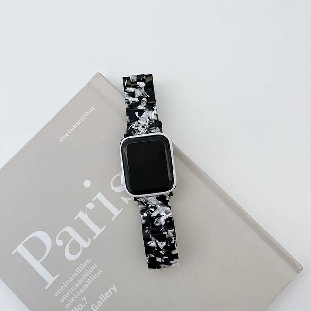 Adult black marble applewatch belt