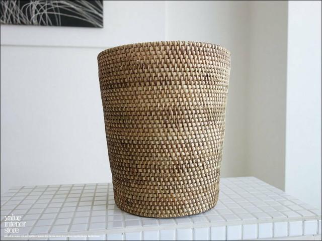 ラタンダストボックスNA ゴミ箱 手編み 鉢カバー ごみ箱 小物入れ 鉢入れ プランツカバー ナチュラル くずかご 籐 ハンドメイド 自然素材