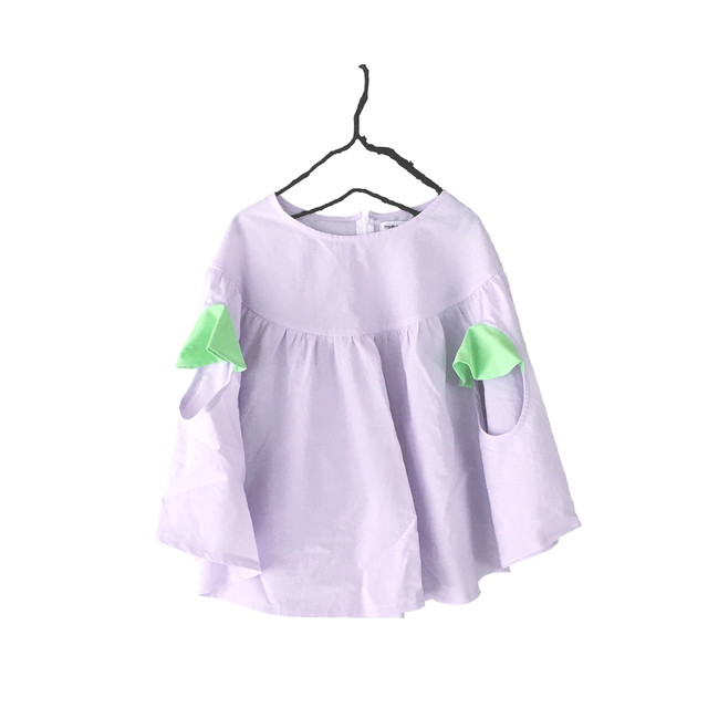 PONCHO GATHER TOPS DYED / S - L