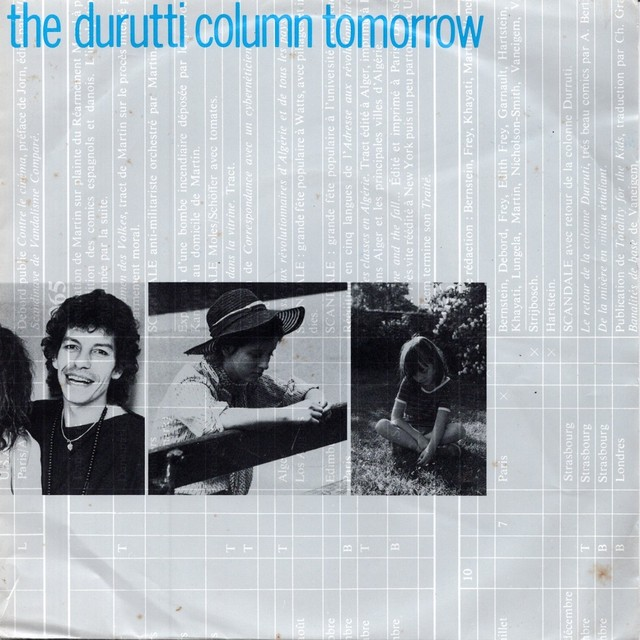 【7inch・ベルギー盤】The Durutti Column / Tomorrow