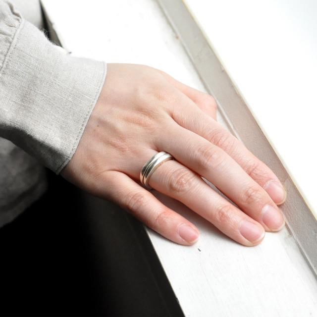 indigo-silver WORKS -  double ring silver -