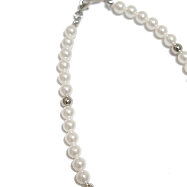 【Cat & Parfum】Pearl Beads Silver Necklace