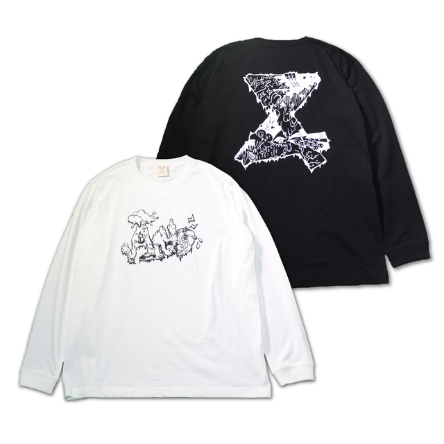 Muddy Monster Long Tshirts【mono ver.】