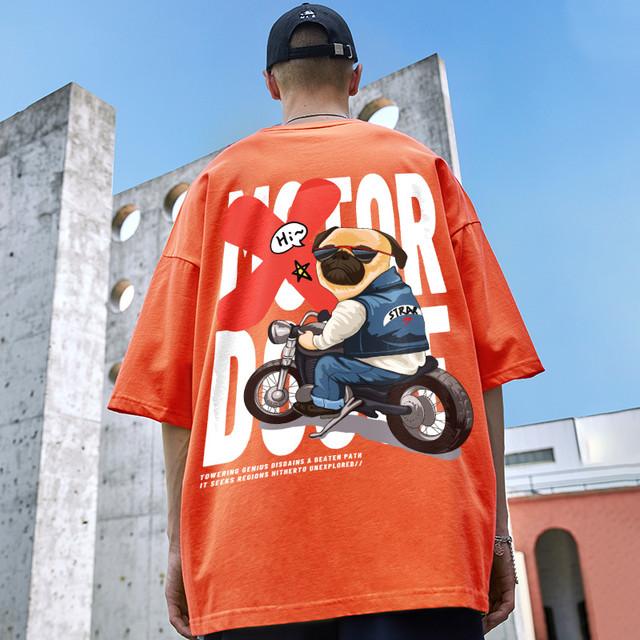 【トップス】半袖ストリート系カジュアルプリント男女兼用キュートTシャツ46175919