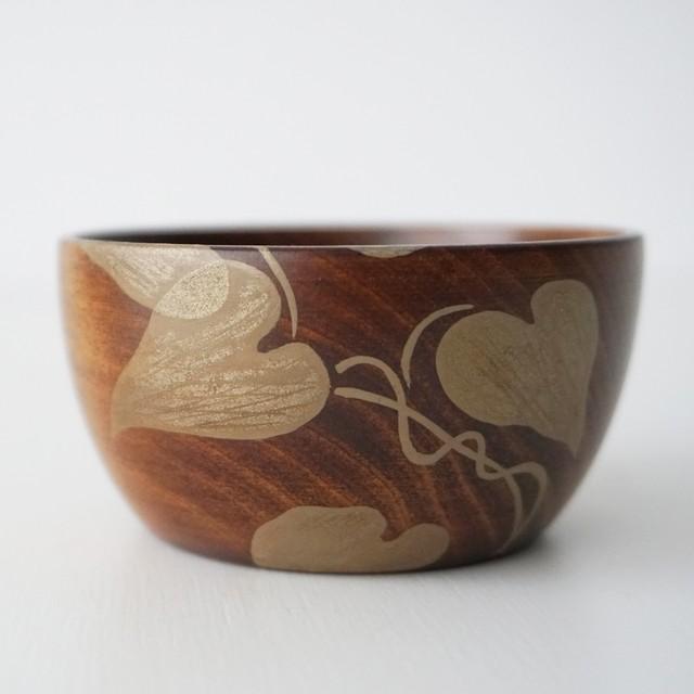 八木由紀子作品 拭き漆カップ 銀錫ツタ