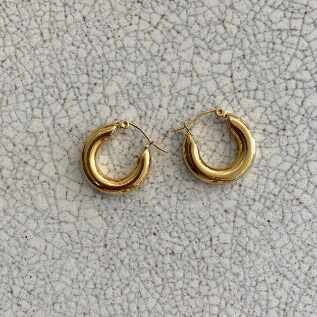 chunky pierce small / gold(20mm)