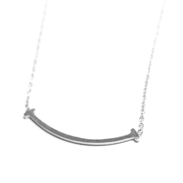 T Letter Necklace 【SILVER】